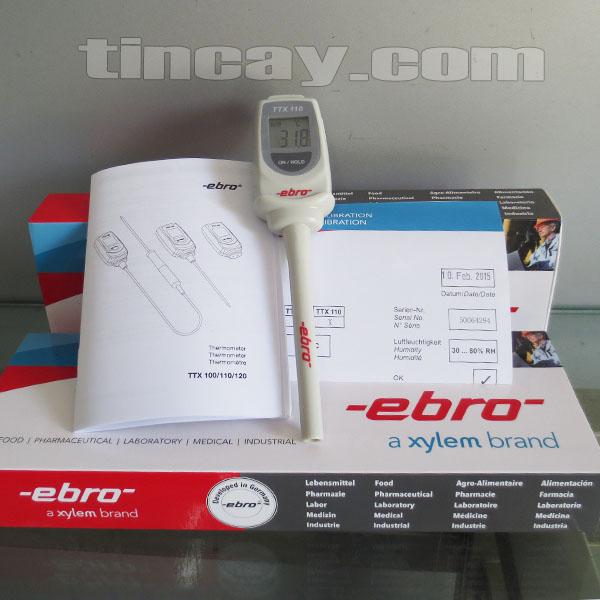 Trọn bộ Máy đo nhiệt độ điện tử Ebro TTX 110