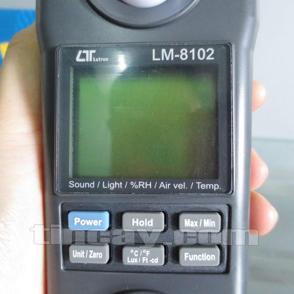 Màn hình Máy đo môi trường 5 chỉ tiêu LM 8102