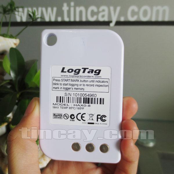 Mặt sau Thiết bị ghi nhiệt độ, độ ẩm LogTag Haxo-8