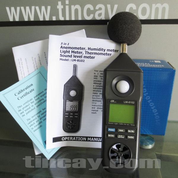 Trọn bộ Máy đo môi trường 5 chỉ tiêu LM 8102