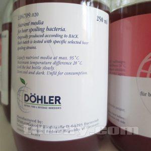 môi trường nuôi vi sinh Dohler NBB Agar dành cho bia