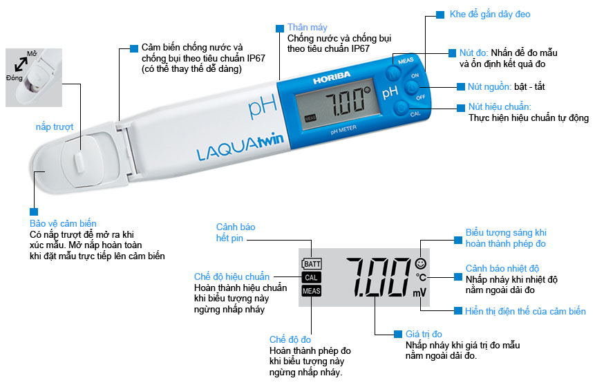mô tả chức năng bút đo Horiba pH 11