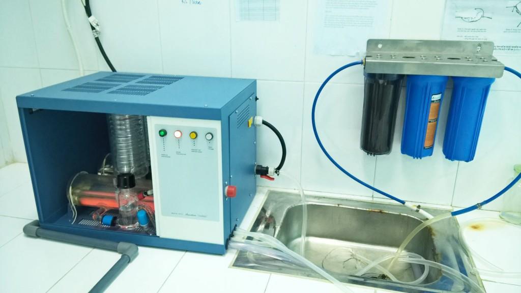 lắp đặt máy cất nước 2 lần A4000D