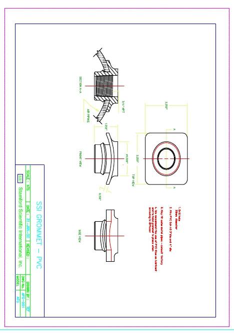 Bản vẽ kỹ thuật khớp nối đĩa thổi khí SSI