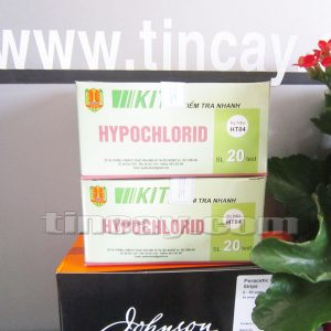 đóng hộp test kit kiểm tra nhanh hypochlorid