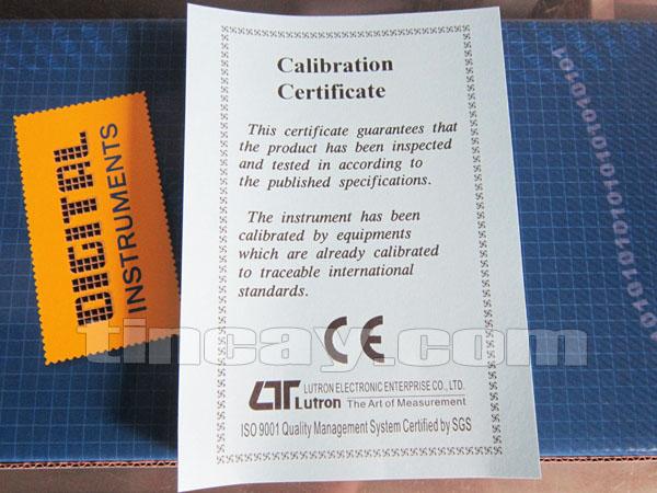 Máy đo độ ẩm đất Lutron PMS-714 (chứng nhận hiệu chuẩn)
