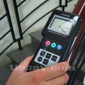 Đo độ bóng bề mặt gỗ với máy Horiba IG320