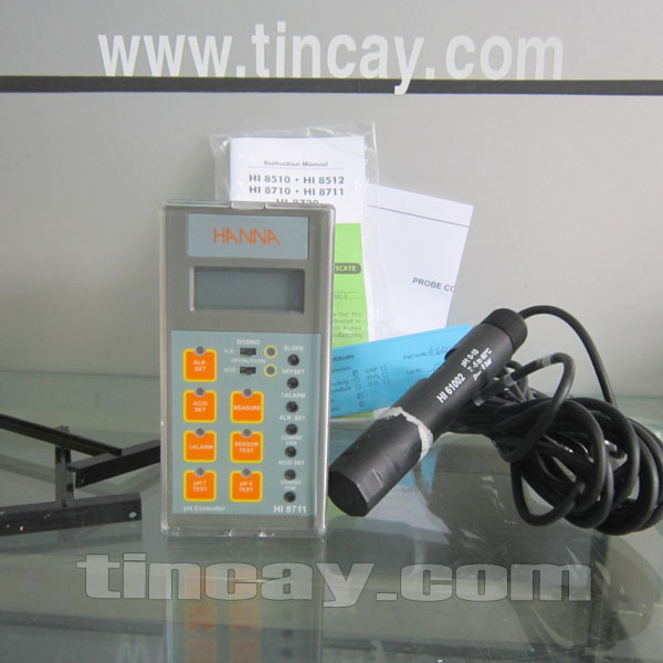 Trọn bộ Máy đo pH online Hanna HI8711