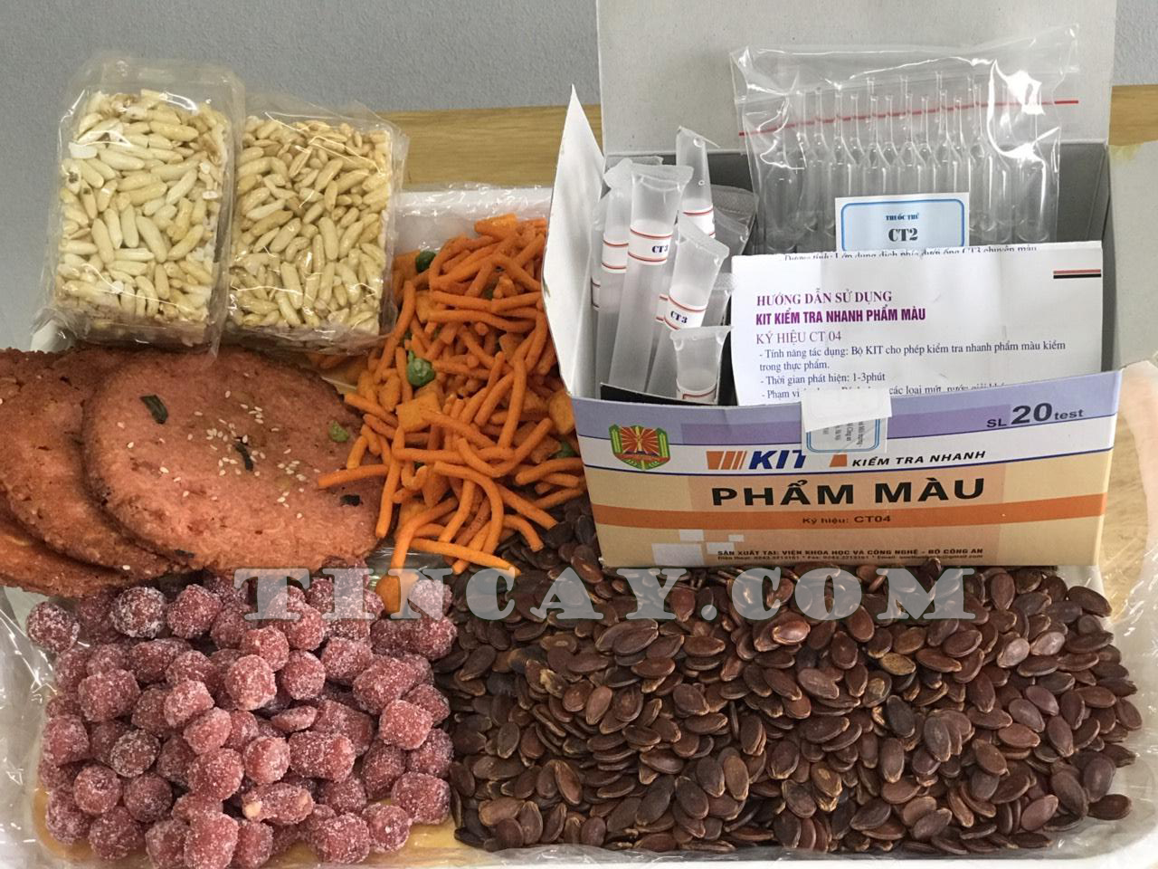 kit kiểm tra nhanh phẩm màu đồ ăn