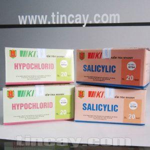 Kit kiểm tra nhanh Hypochlorid và salicylic