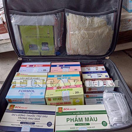 bộ vali kit thực phẩm của Bộ Công An