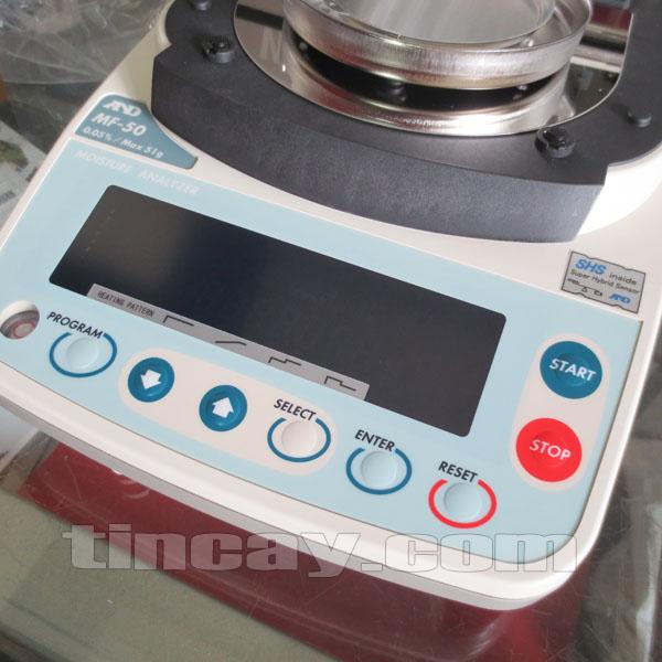 Hệ thống phím Cân sấy ẩm AND MF-50