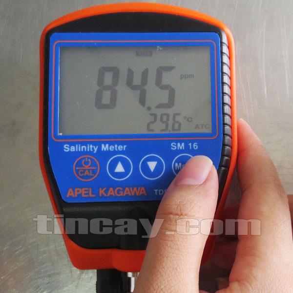 màn hình máy đo độ mặn nước Apel Kagawa SM16