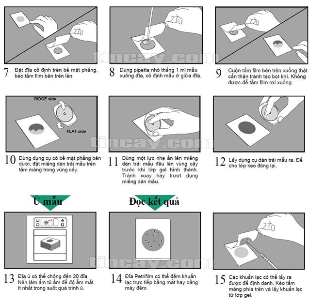 Sử dụng đĩa Petrifilm