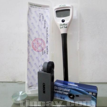 Combo hữu ích máy đo EC HI98331 và kính lúp cầm tay Carson ML-15