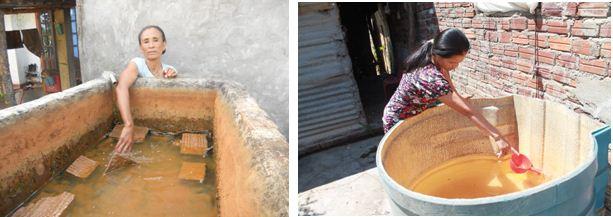 Nước bị nhiễm phèn tại các hộ dân
