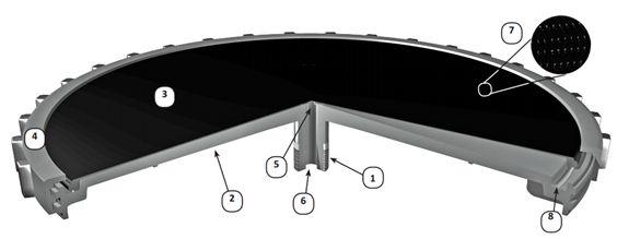 cấu tạo của một đĩa thổi khí tinh