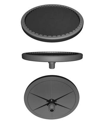 Thiết kế 3D của đĩa thối khí